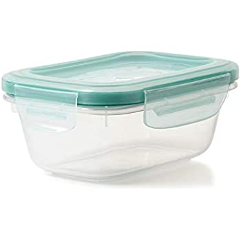 OXO Good Grips LockTop 22-1//2-Ounce Rectangle Container with Green Lid