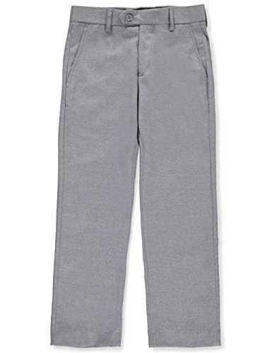 Isaac Mizrahi Boys' Big Wool Blend Slim Pant, Light Grey, - Pants Boys Pleated Dress