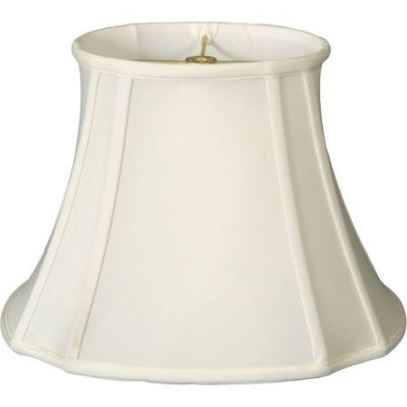 - Upgradelights Shantung Silk 13 Inch Scalloped Cut Corner Lampshade (White)