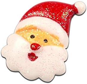 KABITA115-10Pcs Mixed Resin Christmas Snowman Decoration Crafts Flatback Cabochon Embellishments For Scrapbooking Beads Diy Accessories - H2731