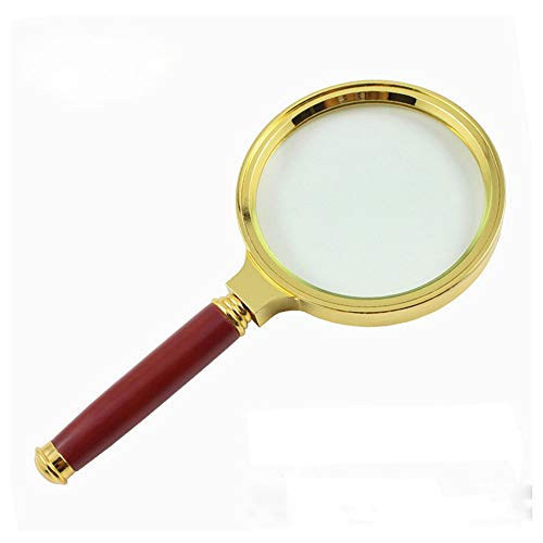 Fan-Ling 90mm Handheld 6X Magnifier Magnifying Glass Loupe Reading Jewelry Aid Big - Bathroom An Mirrors Fitting Led