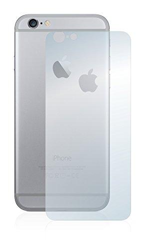 [6 Pack] Savvies Pellicola Protettiva per Apple iPhone 6 Posteriore (totale + LogoCut) Protezione Proteggi Schermo - Trasparente