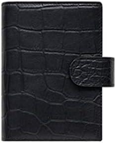 ASHDZ ノートブック、クリエイティブミニマリストノートブック、革製メモ帳、ギフト-日記メモ日記とメーター/ 50枚 事務用品 (Color : Black)