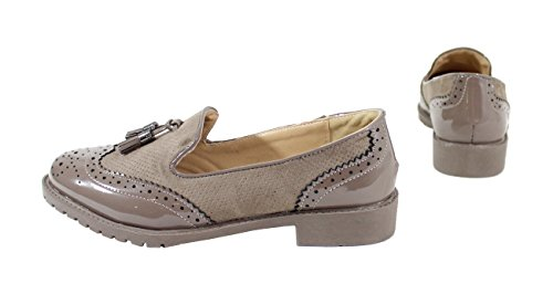 Shoes de Cordones Taupe by Zapatos para Mujer OdaWqwE