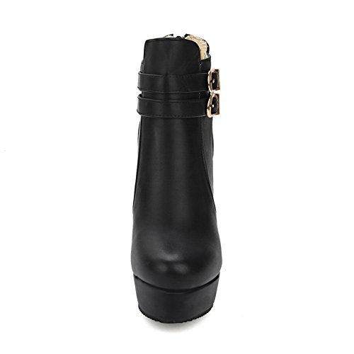 Closure Urethane Boots Black Boots Platform No BalaMasa Womens pEwxqvBSnz