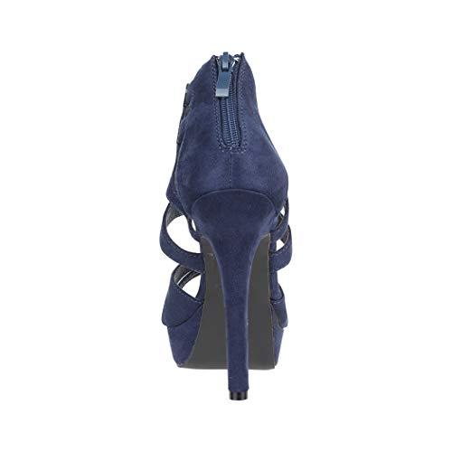 Moderne Cut Stilettos Pumps Chunkyrayan blue High Damen Elara Wildlederoptik Heels Paris Dk Out qxUaOfWw6A