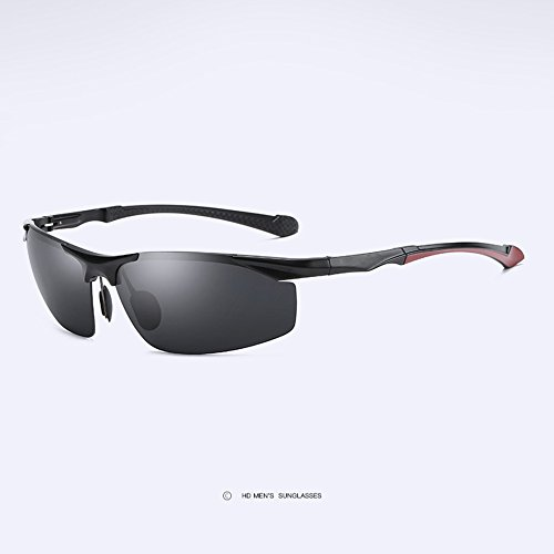 Hombre MG Sol Blackgray Conductor Deportivas De Z amp;HA HD para Bordes Gafas De Sol Sin Conduciendo Antideslumbrante Gafas Gafas Polarizadas Blackgray Gafas Al gS8q4w