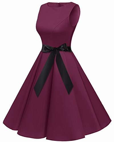 Bbonlinedress Robe Vintage rétro 1950's Audrey Hepburn de soirée Cocktail Mariage Anniversaire année 50 Rockabilly