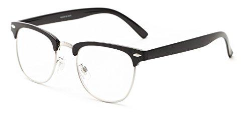 Readers.com The Jet Setter +1.25 Black Oversized Browline Readers Trendy Reading Glasses