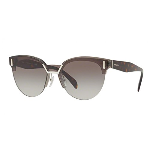 Prada Women's 0PR 04US Transparent Grey/Havana/Grey Gradient One - Logo Sunglasses Prada