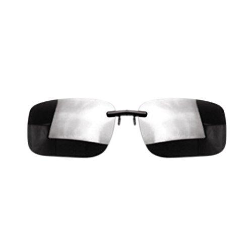 Verres de Meisijia solaires Conduite Vision Lunettes Clip Femmes Hommes Gris lentille noir UttOwZq