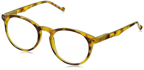 Peepers Brain Trust Oval Reading Glasses,Yellow,+1.75