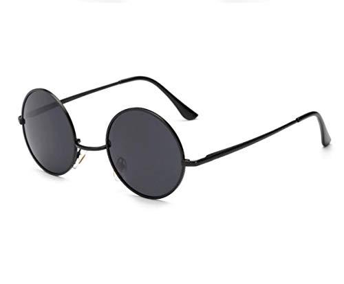 del Guay de para Huyizhi para estilo marco Gafas hombres Gafas Black de viajar conducción retro redondas Mujeres de la protección los UV400 sol del 4dE8Ewq
