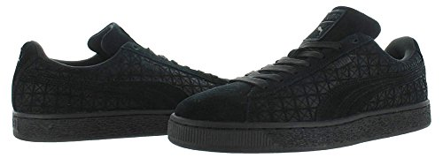 Puma Mens Mocka På Ankel-high Fashion Sneaker Svart-vit