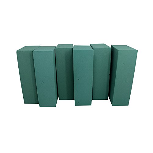 Floral Foam Blocks | Florist Flower Styrofoam Green Bricks applied Dry or Wet | Set of 6