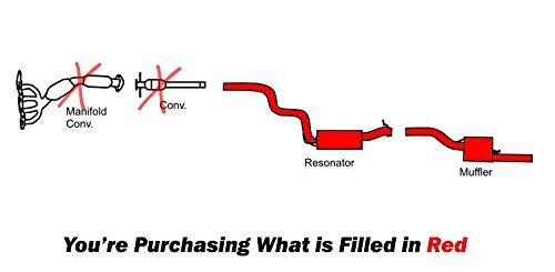 amazon com: 2005-2007 focus 2 0l sedan resonator pipe muffler exhaust system  kit: automotive