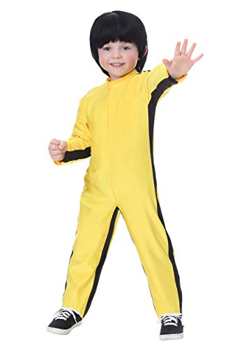 Toddler Bruce Lee Costume 4T Yellow -