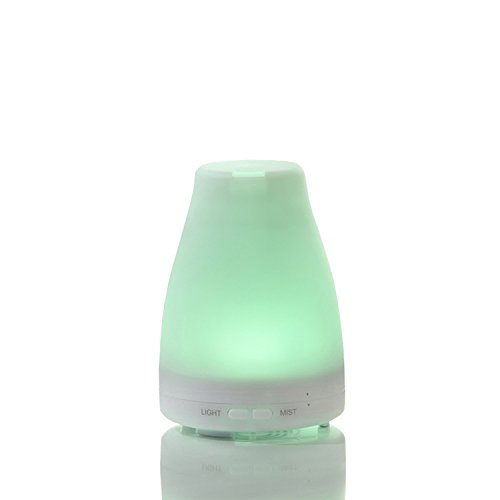 ZJKC 100 Milliliter Essential Oil Diffuser 7 Colors Changing Aromatherapy Ultrasonic Air Humidifier with LED Lights, Cool Mist Diffusers for Home Photo #2