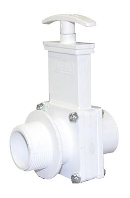 """Valterra 6106 PVC Gate Valve, White, 1-1/2"""" MPT x Spig by Valterra Products"""