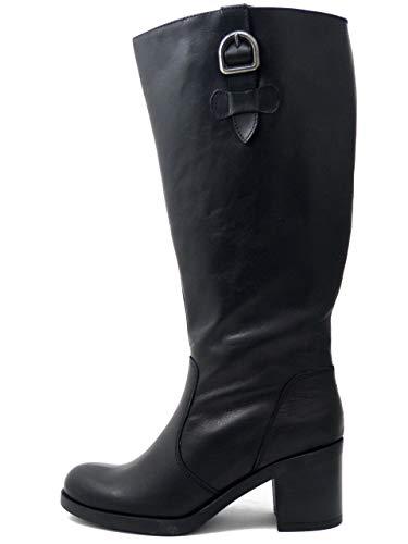 XXL XXL XXL Tacco Medio Donna calibrata Modello Pelle Samoa Stivali Stivali Stivali in 41515 cm Gamba Nero 7 1XwUTq6f
