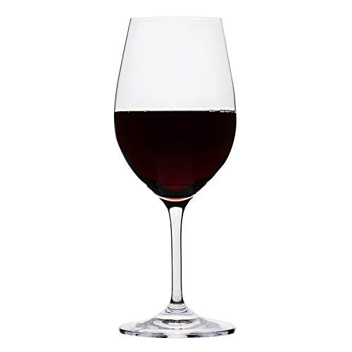 Ravenscroft Crystal Titanium Pro 24-piece All-Purpose Restaurant Wine Glass, 12-ounce (12 oz - Glass Rim Wine Sheer Red