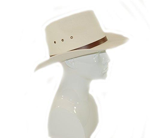 Top Brand Chapeau de cowboy style Stetson à large bord Coton Blanc 57cm Taille S
