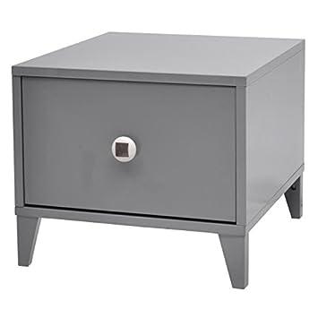 BOTTON Chevet contemporain laqué gris - L 38 cm: Amazon.fr: Cuisine ...