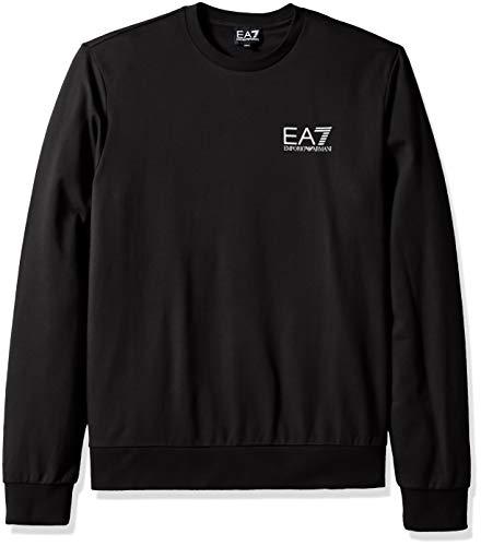 Emporio Armani EA7 Men s Train Core ID French Terry Sweatshirt, Black,  Medium 22615028d37