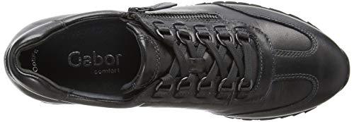 12 Donna Comfort Scarpe Basic Ferro Grigio Derby Stringate Gabor qHFanWq