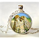 Love Cheetahs (Cheetah Necklace, Art Pendant, Cheetah Love,Cheetah Pendant,Cheetah Jewelry, Wild Cat Jewelry,Glass, Photo,Jewellery)