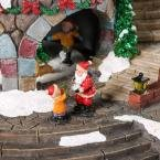 12.5 in. Animated Holiday Downtown, LED Lighted Animated Snowy Christmas Village House Scene by Home Accents Holiday (Image #2)