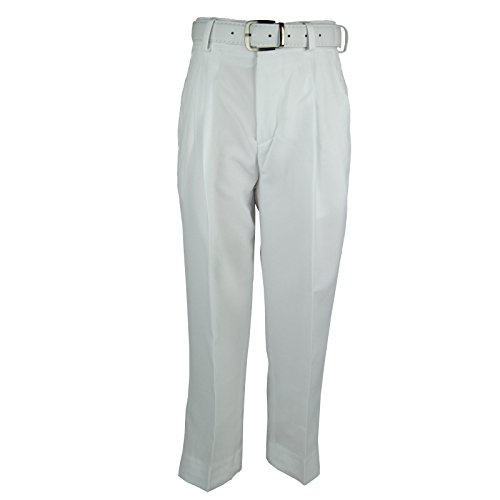 Bocaccio Boys Pleated Husky Dress Pants With Belt White 16H (Boys Pleated Pants Dress)