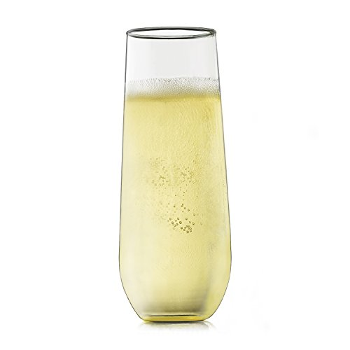 Libbey Stemless Champagne Flute Glasses, Set of 12 by Libbey