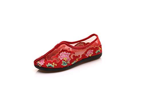 ZHRUI coloré Taille 38 Rouge EU Rouge Chaussures rFw5rqTv