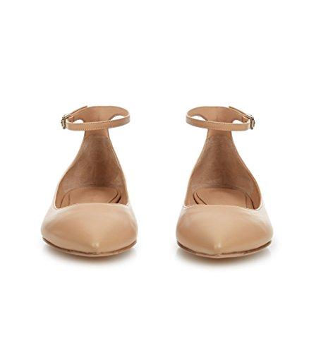 Nue D'honneur Edefs Demoiselles Matte À Main Habillées Cheville Bout Appartements Femmes Pointu Wrap Chaussures Faites La paqO6Z1pw