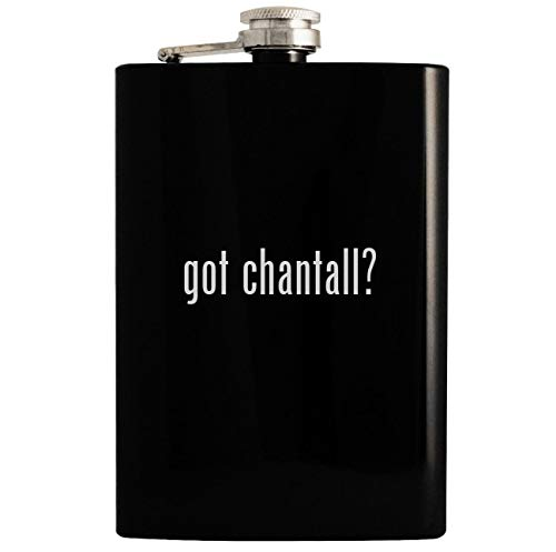got chantall? - 8oz Hip Drinking Alcohol Flask, Black
