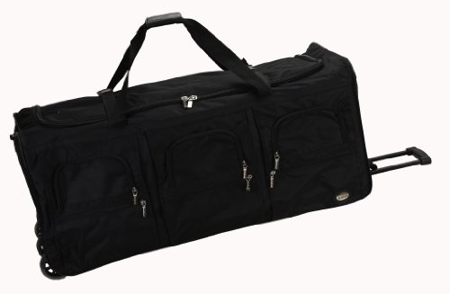 (Rockland Luggage 40 Inch Rolling Duffle Bag, Black, X-Large)