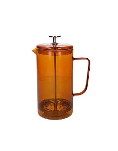 La Cafetière Core Cafetiere/French Press Coffee Maker, Borosilicate Glass, Amber, 8 Cup (1 Litre)