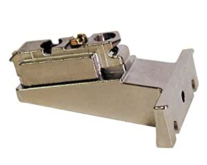 One Piece (175H5030.21) Mounting frame . Blum B175H5 9mm Die Cast Screw On Inset Face Frame Mounting Plate