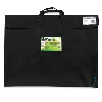 Itoya Profolio Art Envelope Pro, Weather-Resistant with Nylon Handles, 14.5 X 20.5 inches, Gloss Black (NV-14-20BK)