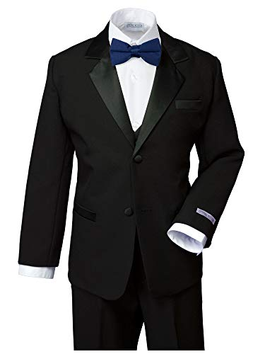 Spring Notion Boys' Classic Fit Tuxedo Set, No Tail 5 Black-Navy -