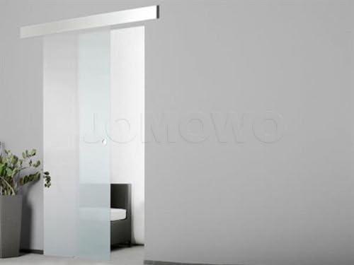 Puerta de vidrio satinado con aluminio con superficie de vidrio 2080 x 900 x 8 mm: Amazon.es: Bricolaje y herramientas