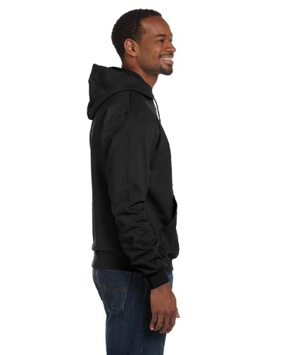 Champion Double Dry Action Fleece Pullover Hood, Black, L