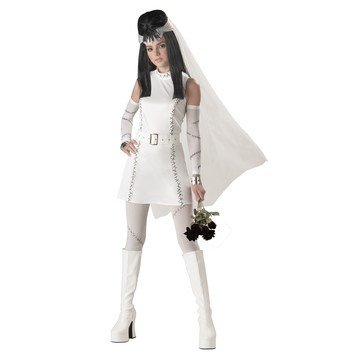 Sexy Monsters Bride Costumes (Teen Frankie's Girl Costume - Teen 3-5)