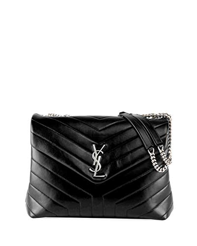 c9724e57ebe Saint Laurent Loulou Monogram YSL Medium Chain Shoulder Bag Made in Italy ( Black)