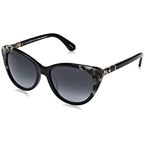 Kate Spade Women's Sherylyn/s Cateye Sunglasses, Black Havana/Dark Gray Gradient, 54 mm