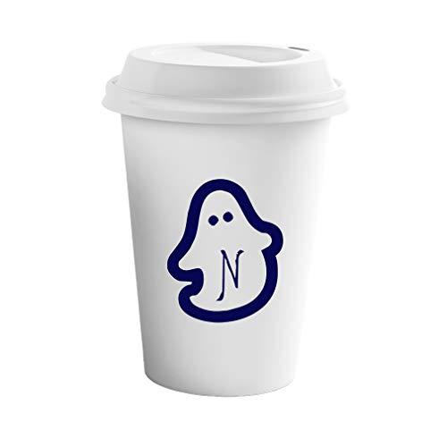 Style In Print Navy N Halloween Ghost Monogram Letter N Ceramic Coffee Tumbler Travel -