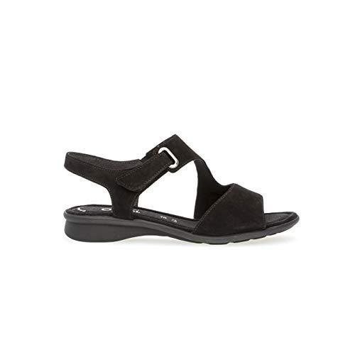 Con schwarz 47 Alla Gabor Comfort Cinturino Donna Sandali Nero Basic Caviglia Xwtwz
