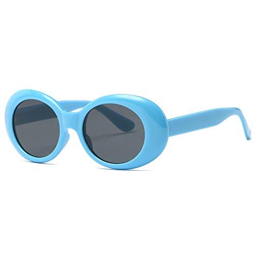 Pour de de Charnières Femmes Bleu Cadre Kimorn Lunettes Soleil K0567 Métal Plastique Lunettes amp;noir Soleil Ovale SwqxxztP5
