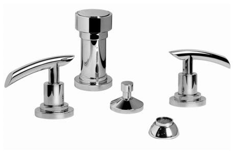 - Graff® Tranquility Series Bidet Set, Satin Nickel (available in many finishes, shown in polished chrome)